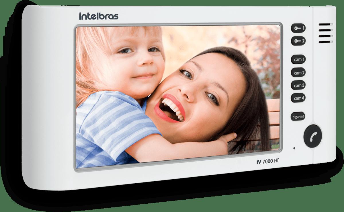 Módulo Interno para Vídeo Porteiro Intelbras IV 7000 HF IN Branco