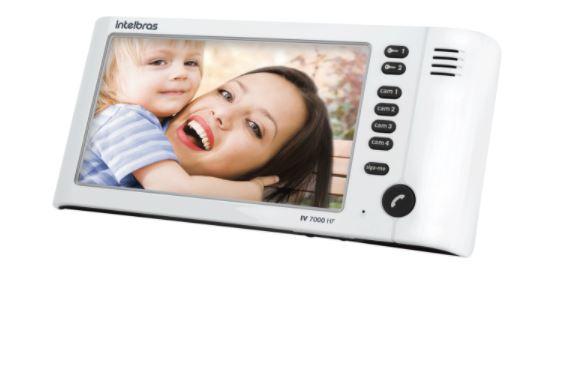 Módulo Interno para Vídeo Porteiro Intelbras IV 7000 HF IN Branco  - Casa Mattos