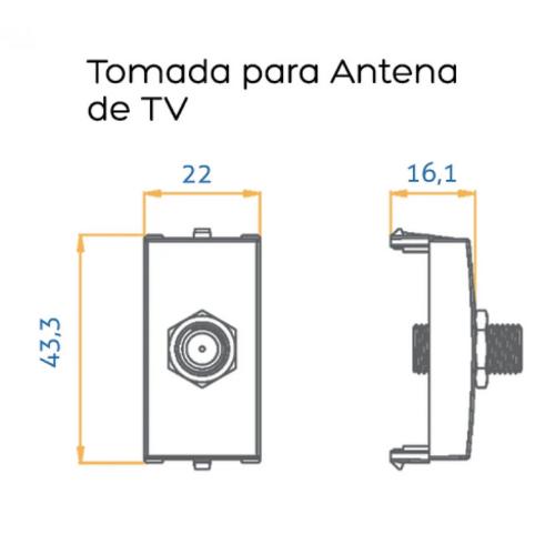 Módulo para Antena Tv Ref: 16044 - Branco  - Casa Mattos