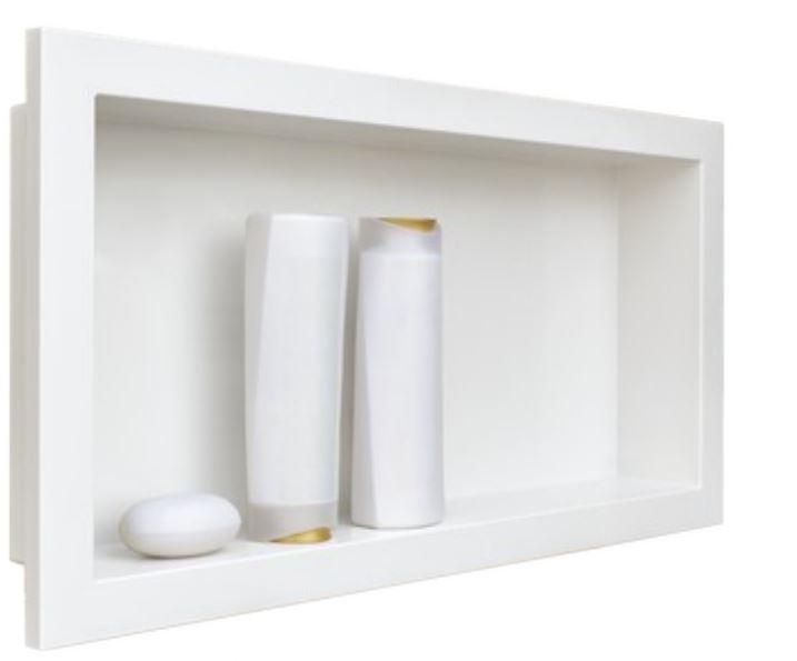 Nicho de Parede  Arquitech  para Embutir 30x60 Branco  - Casa Mattos