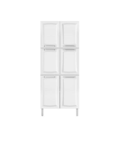 Paneleiro Itatiaia Tarsila 6 Portas para Cozinha Branco