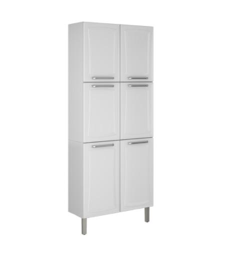Paneleiro Itatiaia Tarsila 6 Portas para Cozinha Branco  - Casa Mattos