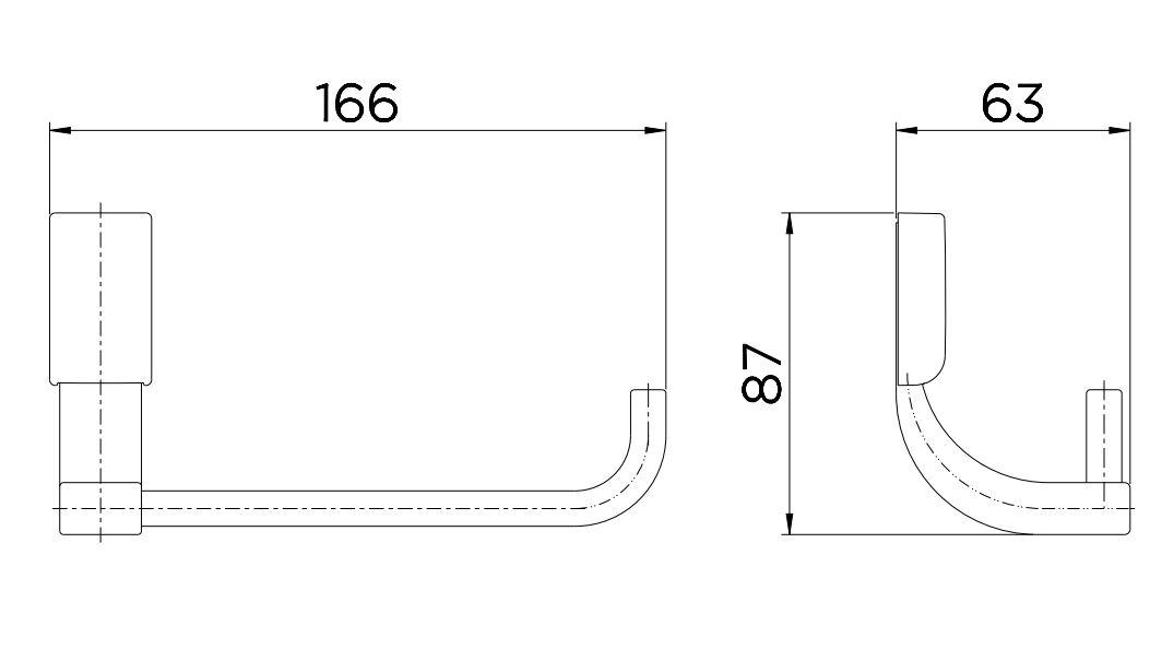 Papeleira Docol Para Banheiro Top 00534206 Cromado  - Casa Mattos