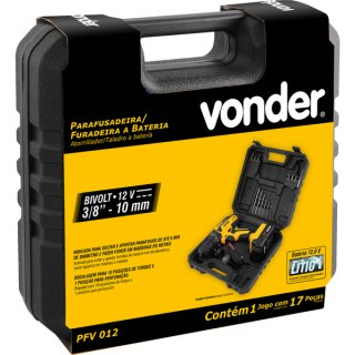 Parafusadeira/Furadeira Vonder A Bateria 12V Bivolt PFV012  - Casa Mattos