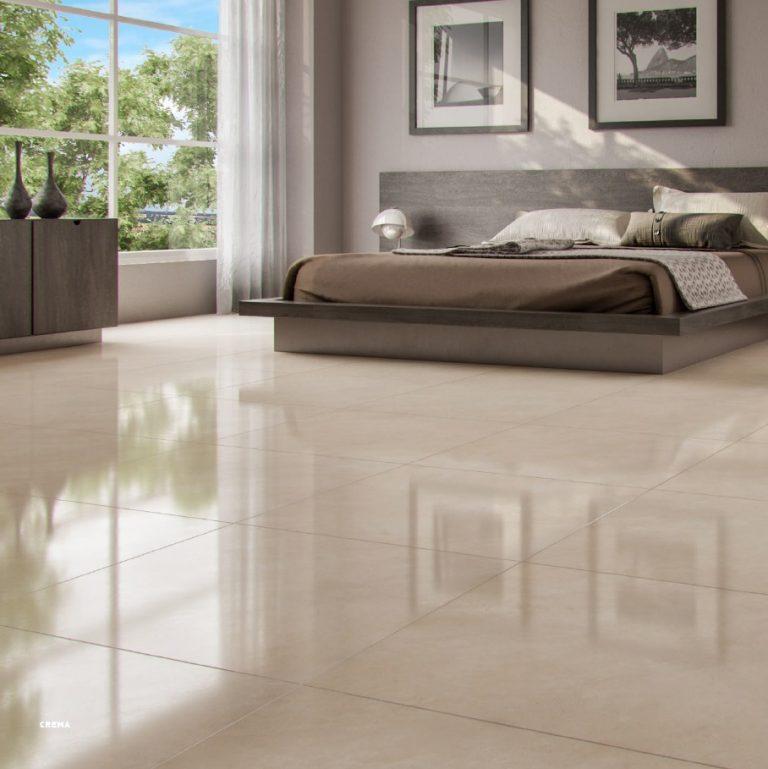 Piso Incesa Crema 60x60 cm Brilhante  - Casa Mattos