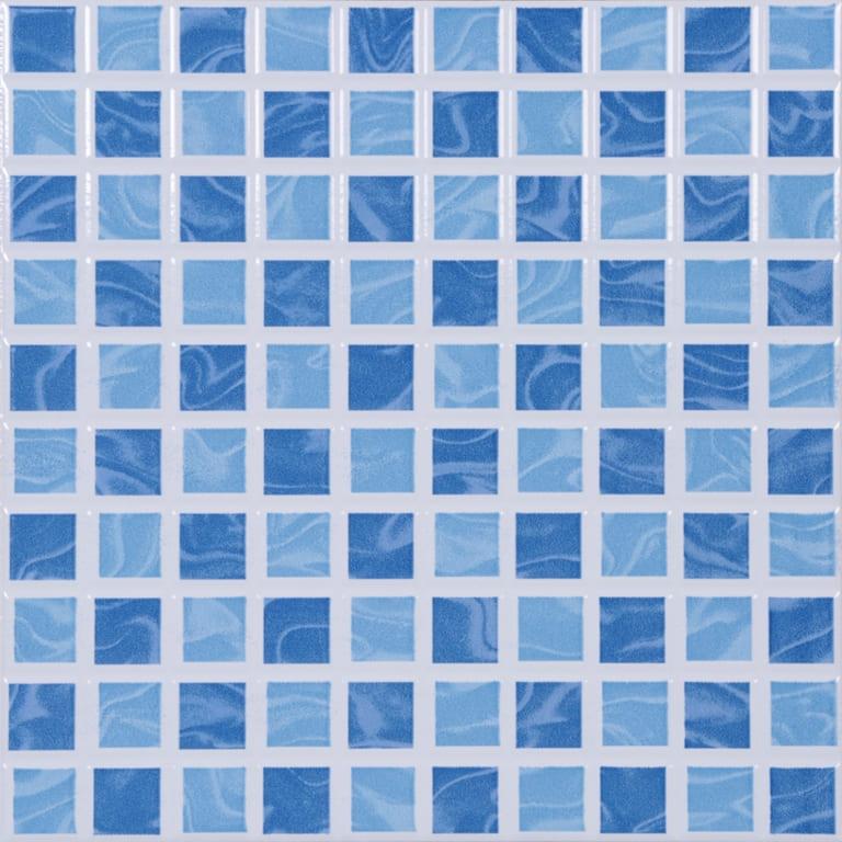 Piso Porto Ferreira Aquarela Azul 25X25cm Brilhante