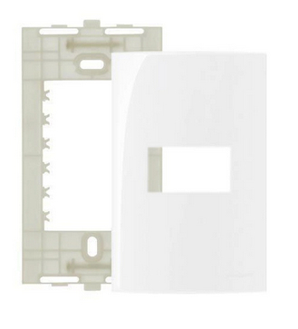 Placa Branca 4x2 1 Posto Ref 16026