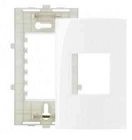 Placa Branca 4x2 2 Postos Ref 16025