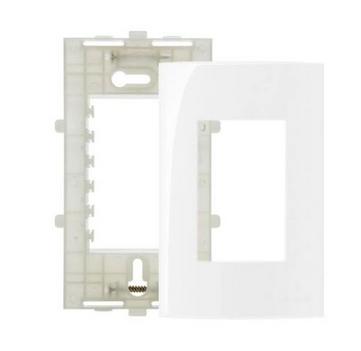 Placa Branca 4x2 3 Postos Ref 16023