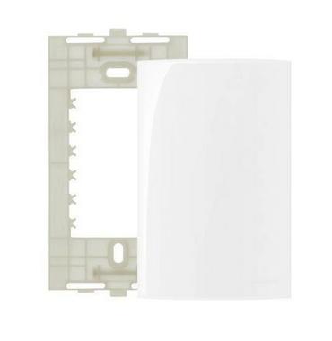 Placa Branca 4x2 Cega Ref 16027