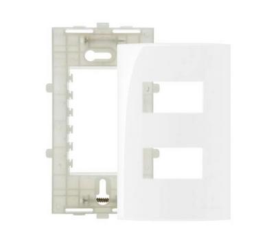 Placa Branca 4x2 Com Suporte Ref 16024