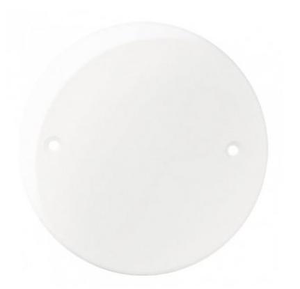 Placa Branca Redonda Cega Ref 16028  - Casa Mattos