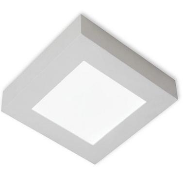 Plafon Led Quadra 12W 6500K - Branco