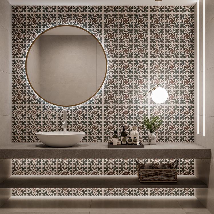 Porcelanato Biancogres Fiori di Lotus Acetinado Retificado 60x60cm  - Casa Mattos