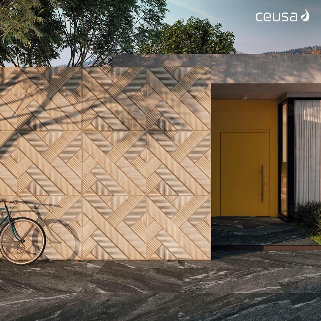 Porcelanato Ceusa Entrelaçada Mix 100x100cm Matte  - Casa Mattos
