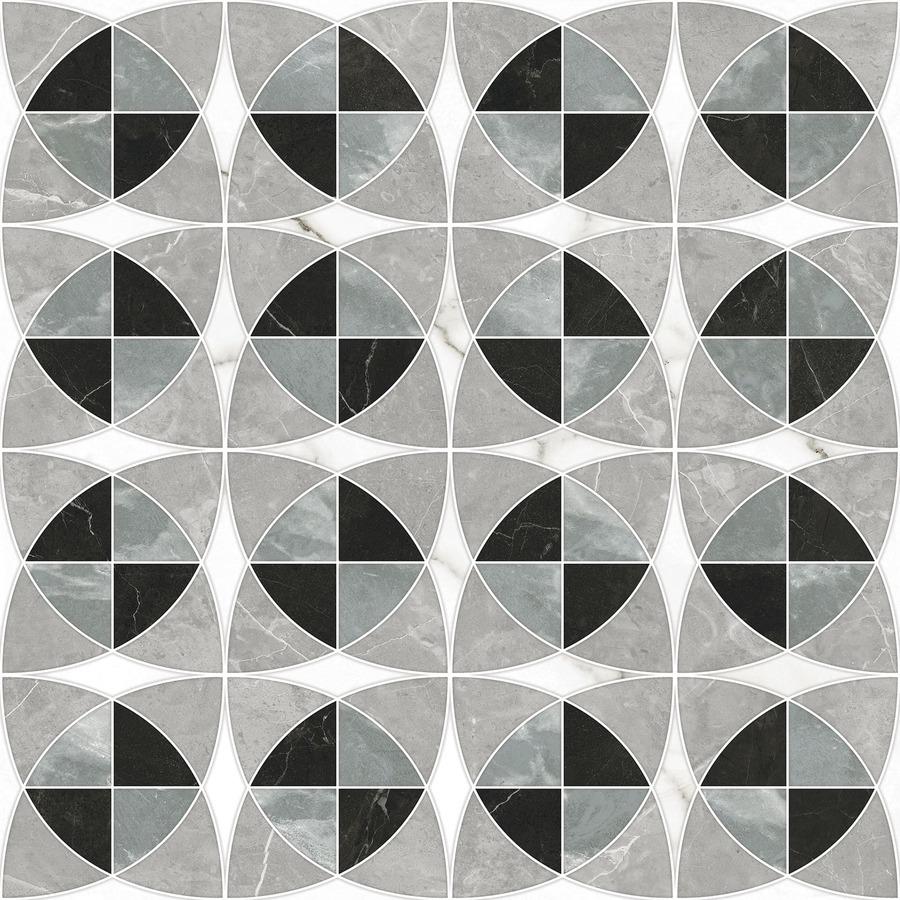 Porcelanato Ceusa Escala Decor Marble Mix 80x80cm Natural  - Casa Mattos