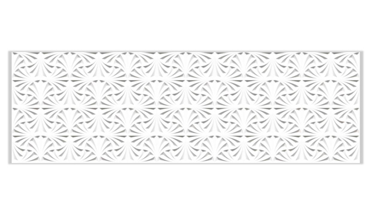 Porcelanato Ceusa Leque Branco 32x100cm Acetinado