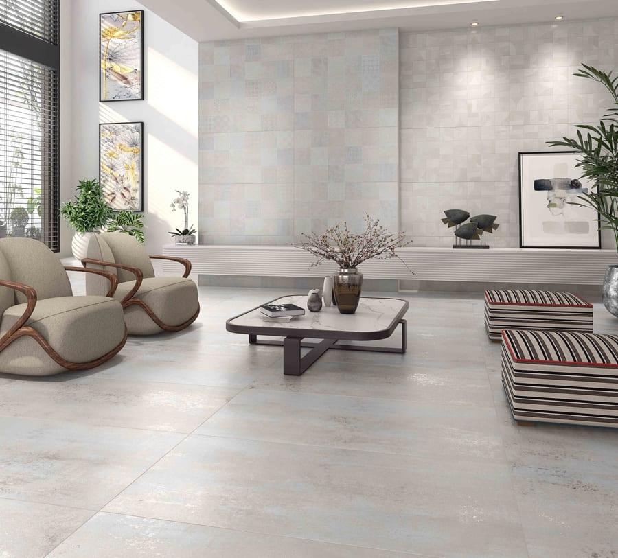 Porcelanato Damme Austin Gray 62X121cm Acetinado Glossy  - Casa Mattos