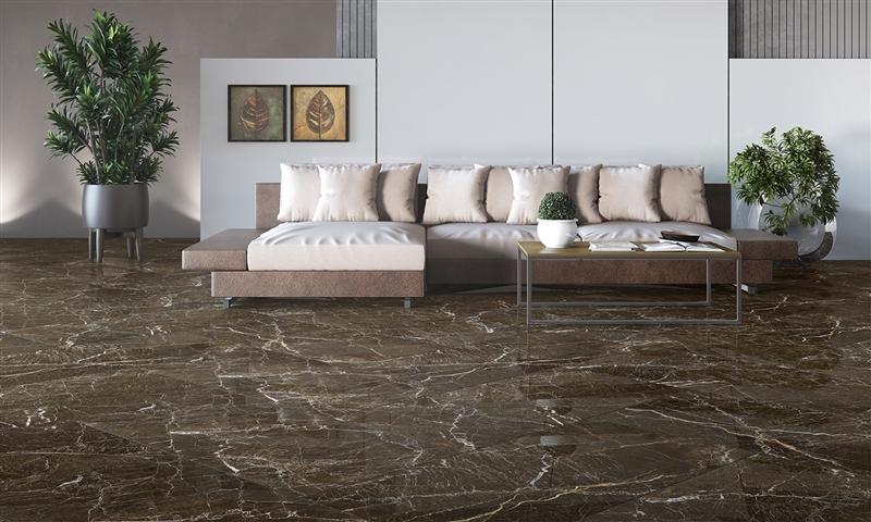Porcelanato Damme Elegant Brown  61x120 cm Polido  - Casa Mattos