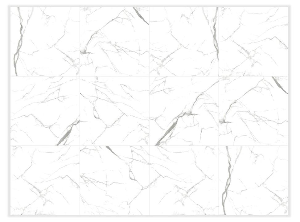 Porcelanato Delta Carrara Cristal Polido 70Cm x 70Cm  - Casa Mattos