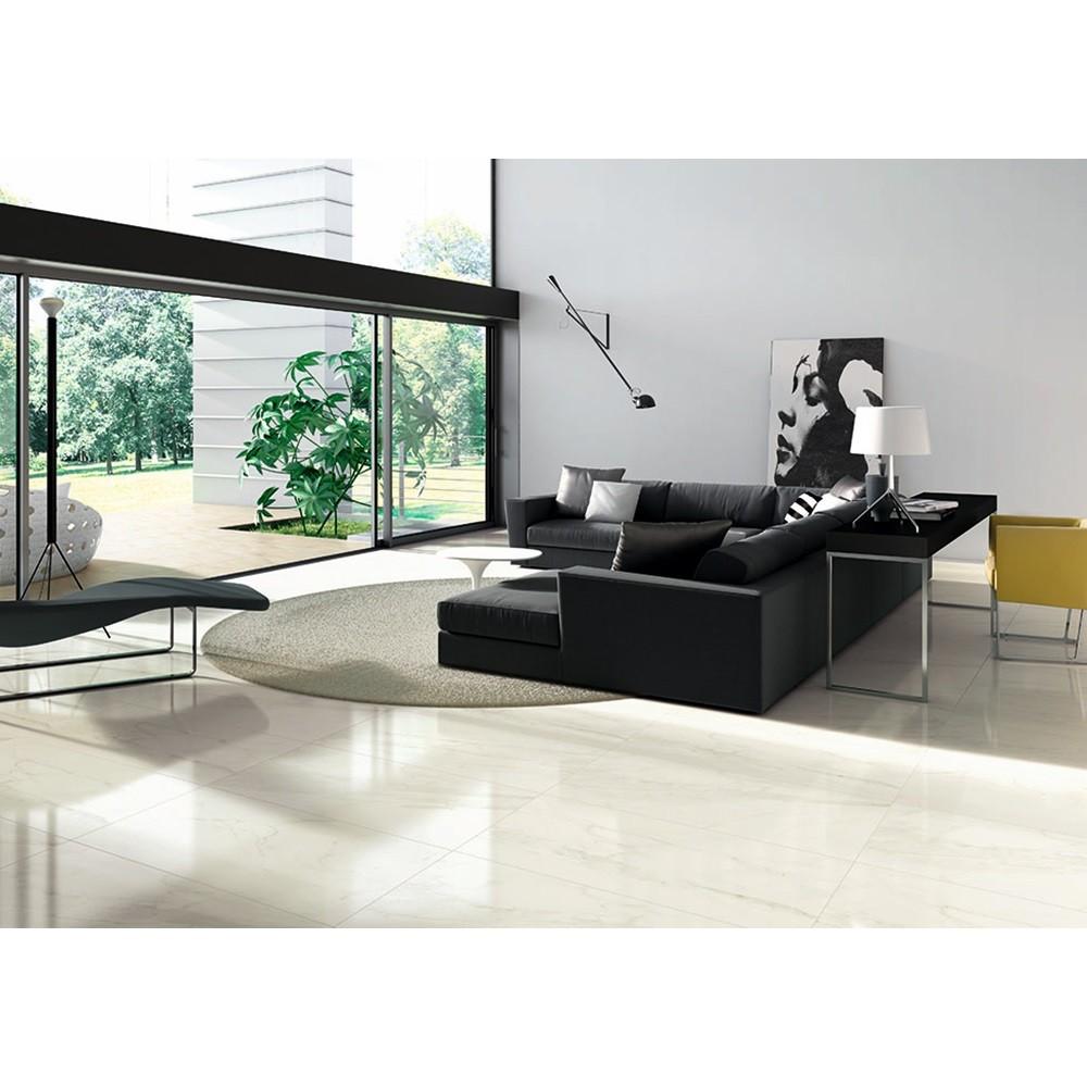 Porcelanato Marmo Calacata Bianco 52,7x105 Cx.1,7  - Casa Mattos