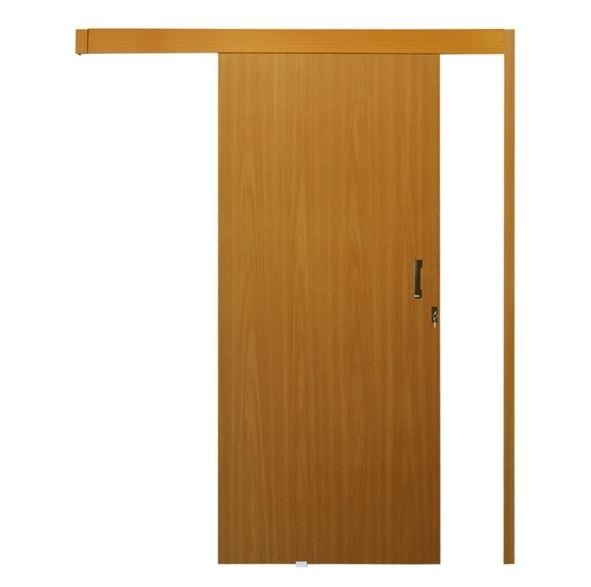 Porta de Correr MGM 215x70cm de Sobrepor Mogno