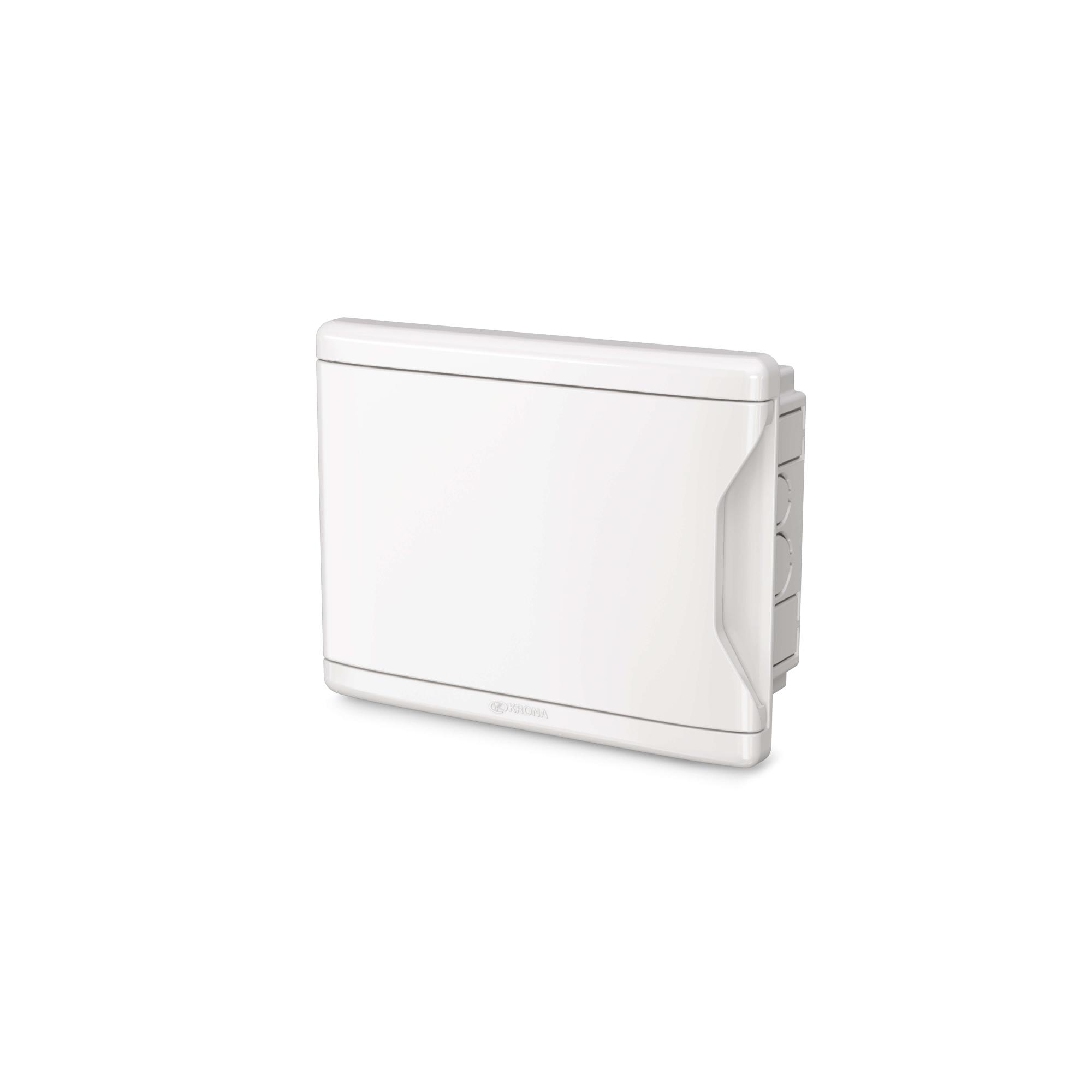 Quadro de Distribuição Krona 1270 sem Barramento de Embutir 4D/3N Branco