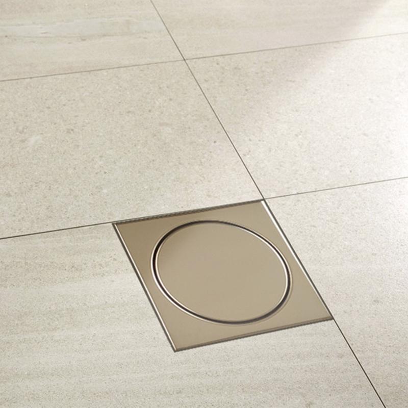 Ralo Elegance Mozaik RBLE1513 Ouro Polido 15x15cm  - Casa Mattos