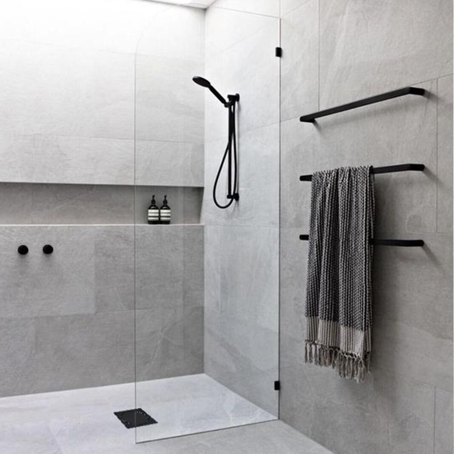 Ralo Elegance Mozaik RBLE1517 Preto Polido 15x15cm  - Casa Mattos