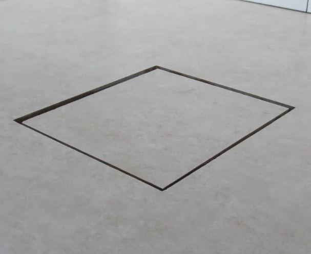 Ralo Linear Square 15x15cm Tampa Oculta  - Casa Mattos