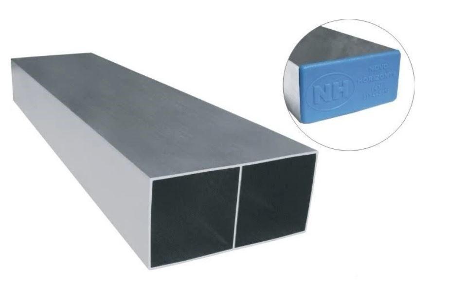 Régua de Alumínio Grossa Para Pedreiro 2 Metros - Azul