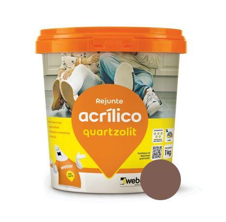 Rejunte Acrílico Quartzolit 1 kg Marrom Café