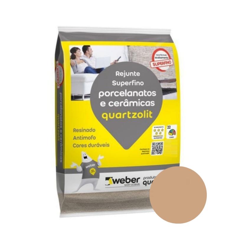 Rejunte Quartzolit para Porcelanato e Cerâmica Caramelo 5kg  - Casa Mattos
