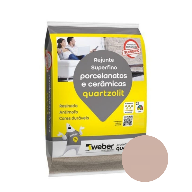 Rejunte Quartzolit para Porcelanato e Cerâmica Tabaco 5kg
