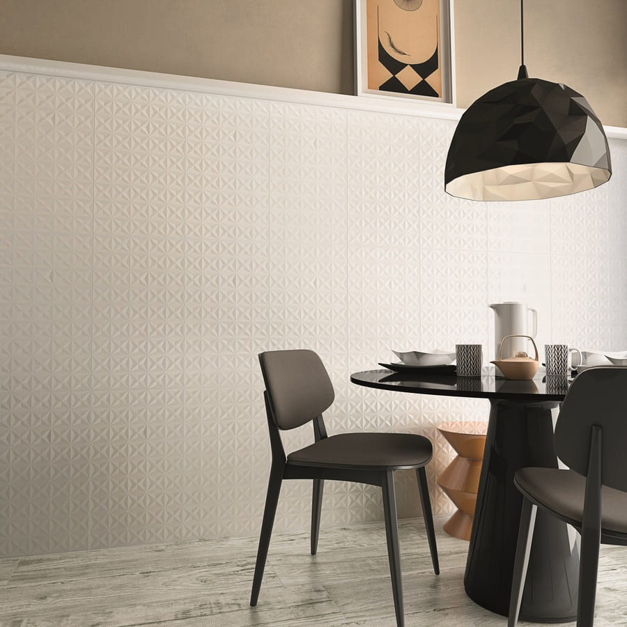 Revestimento Biancogres Stelle Lux Bianco 32x60cm Brilhante  - Casa Mattos