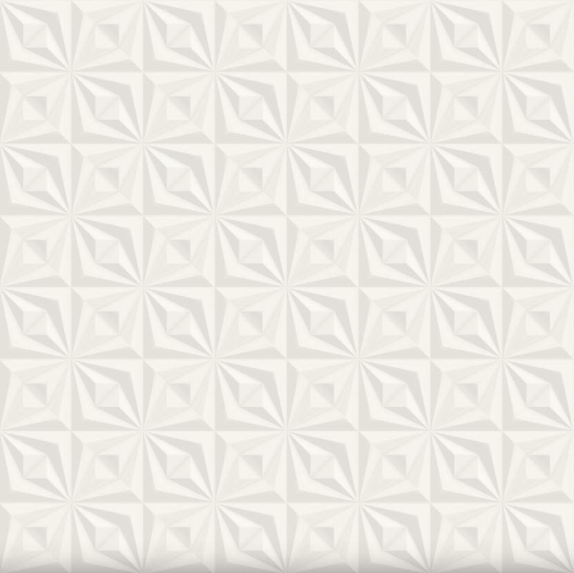 Revestimento Ceusa Drapeado Branco 58 x58 cm Acetinado 2 und/Caixa  - Casa Mattos