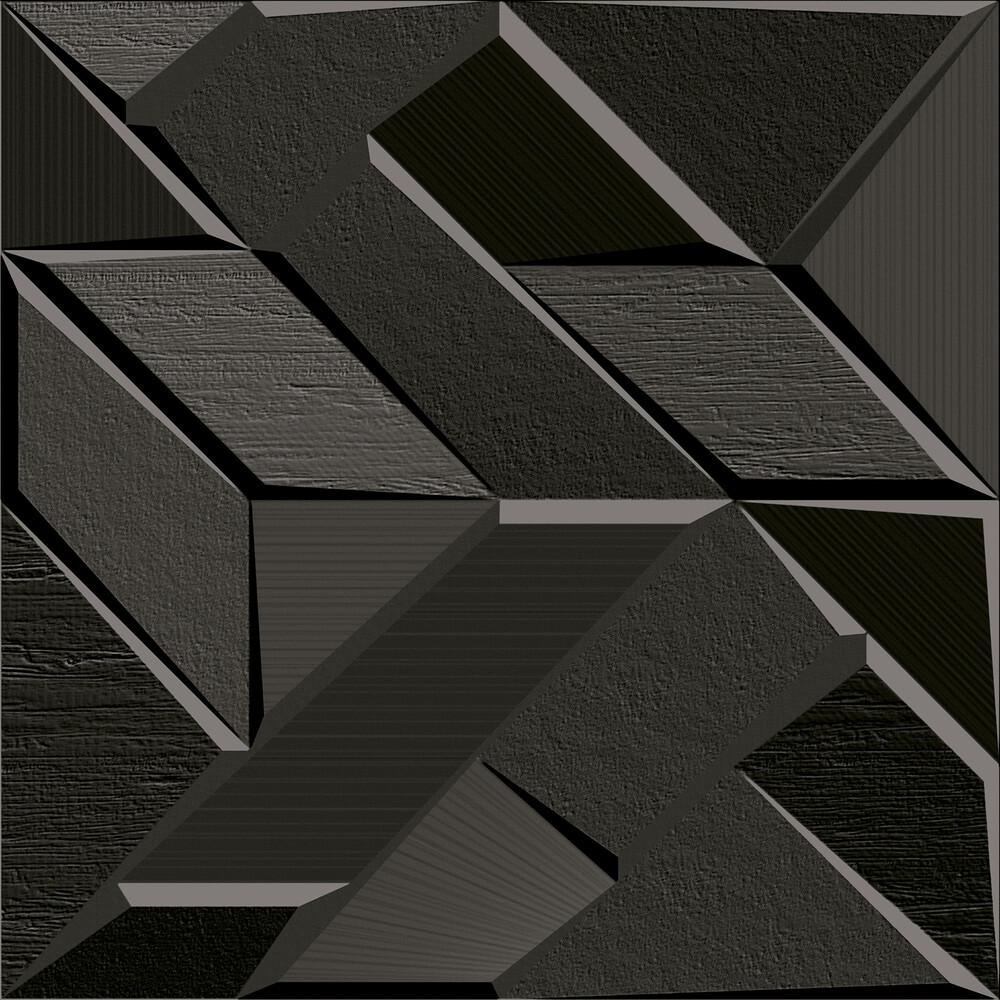 Revestimento Ceusa Lótus Black 58x58cm Matte