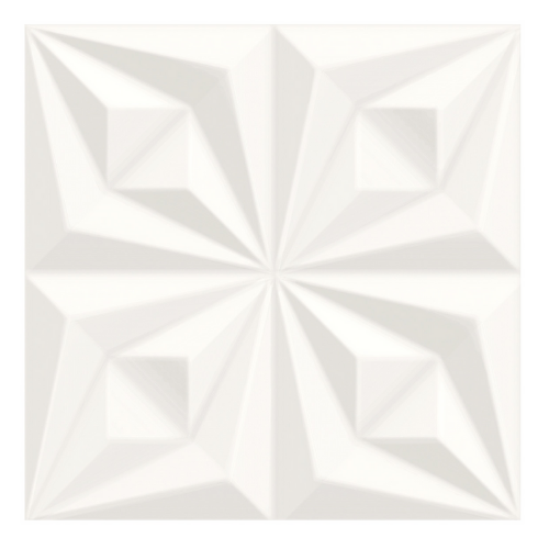 Revestimento Drapeado Branco- 58Cmx58Cm - Retificado - Caixa Com 2 peças - Ceusa