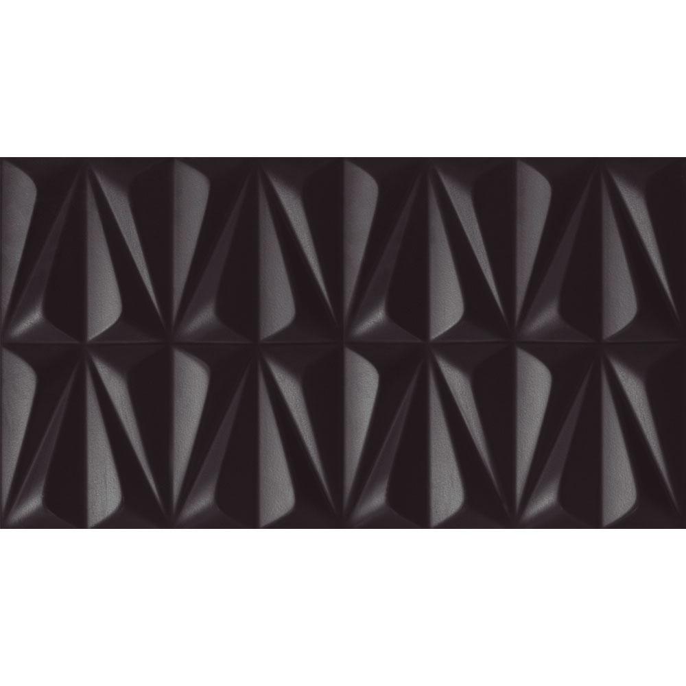 Azulejo Incepa Ludo Black INS 32x59cm Acetinado