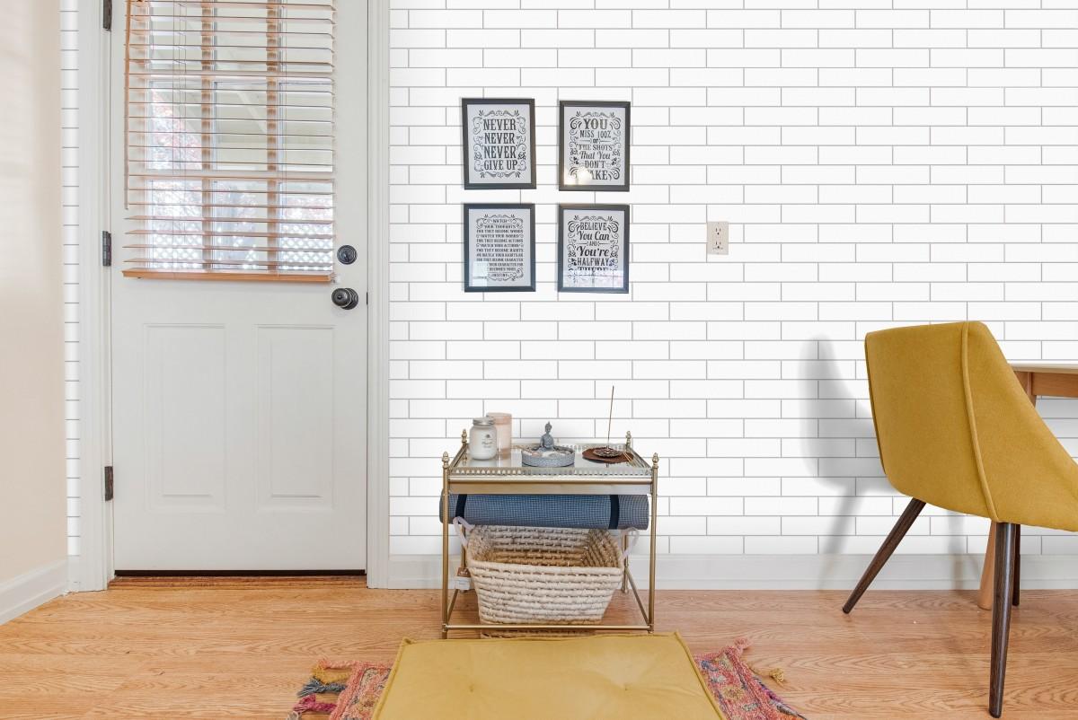 Revestimento Pierini Acetinado Versus White 6,5x25,6cm  - Casa Mattos