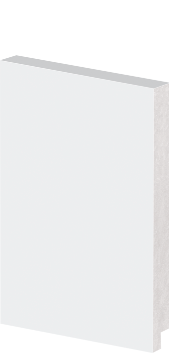 Rodapé Arquitech Poliestireno 50015 Liso Branco 15x240cm Unidade  - Casa Mattos