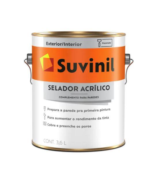 Selador Acrílico Suvinil Galão 3,6L