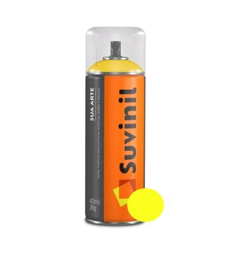Spray Suvinil Sua Arte Brilhante Amarelo 400ml  - Casa Mattos