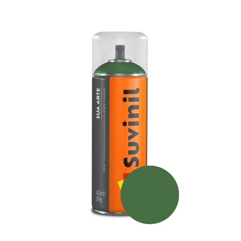 Spray Suvinil Sua Arte Brilhante Verde-Folha 400ml
