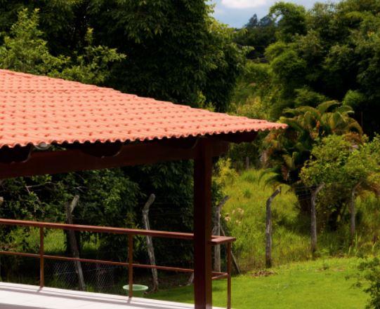 Telha de PVC Colonial Americana Cerâmica 0,86x3,28m  - Casa Mattos