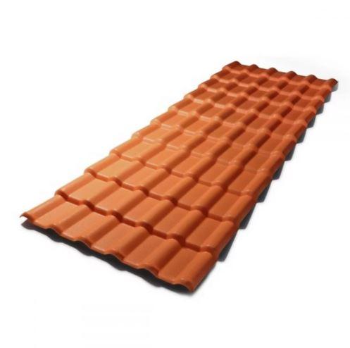 Telha de PVC Plan Afort Colonial Terracota 3,30X0,88m