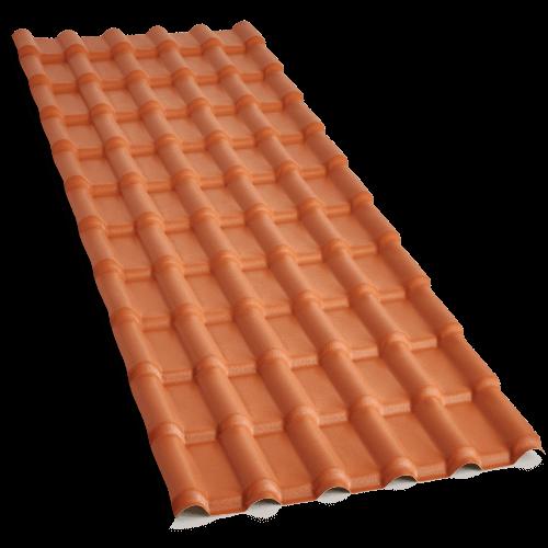 Telha Plan de PVC Cerâmica
