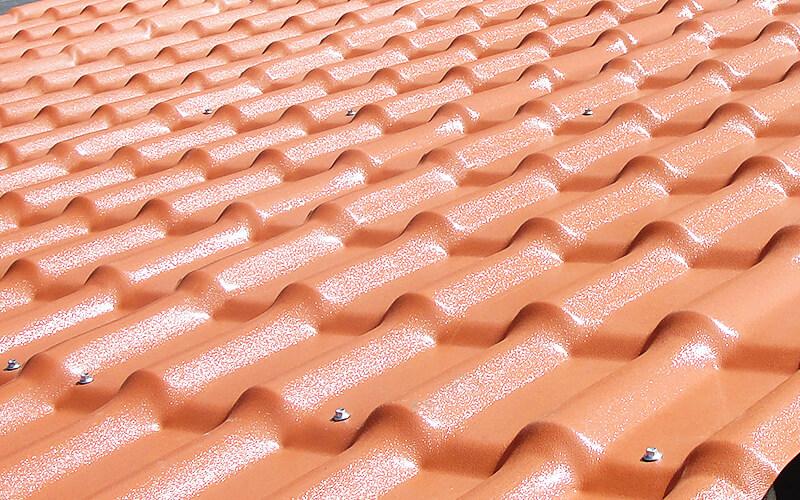 Telha Precon Plan de PVC 2,42X0,88 Cor Cerâmica  - Casa Mattos