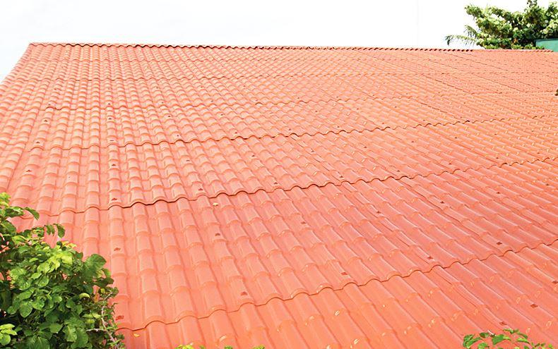 Telha Precon PVC Colonial 0,86x3,28m Cerâmica  - Casa Mattos