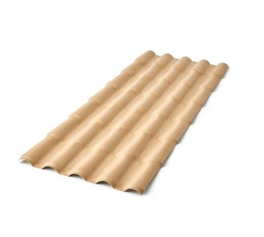 Telha PVC Colonial 2,30x0,86 Marfim Precon